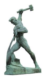 Schwerter_zu_Pflugscharen_-_Bronze_-_Jewgeni_Wutschetitsch_-_Geschenk_der_Sowjetunion_an_die_UNO_-_1959