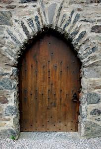 Stone Castle Arch Portal Scotland Door Exterior