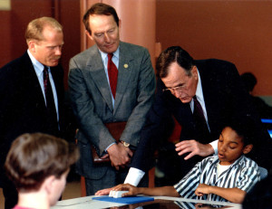 Mark French Sec Ed Lamar Hunt Pres Bush 1992
