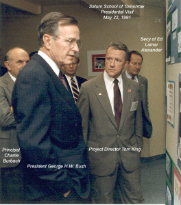 Pres George Bush Saturn Visit Tom King Charlie Burbach 1991